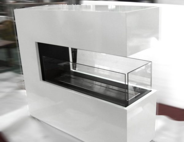 Raumteiler Bioethanol Kamin
