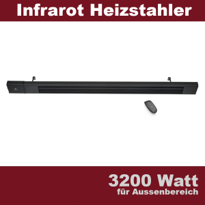 Dunkelstrahler 3200 Watt Terrassen Infrarot Heizstrahler